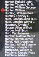 Memorial– Pilot Officer William Langenbeck Hunter is also commemorated on the Bomber Command Memorial Wall in Nanton, AB … photo courtesy of Marg Liessens