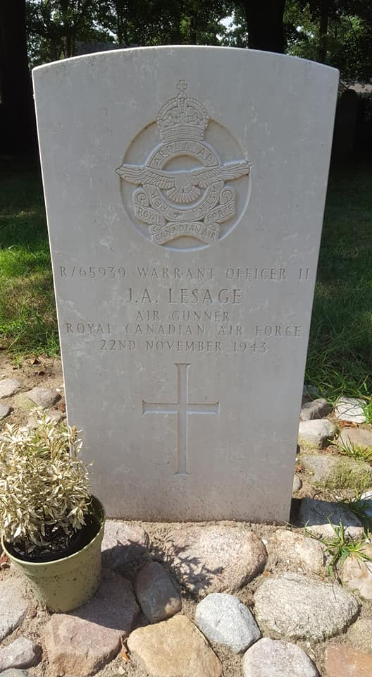 Grave marker– Grave marker from Joseph Alexander Lesage at Diever general cemetery, The Netherlands.