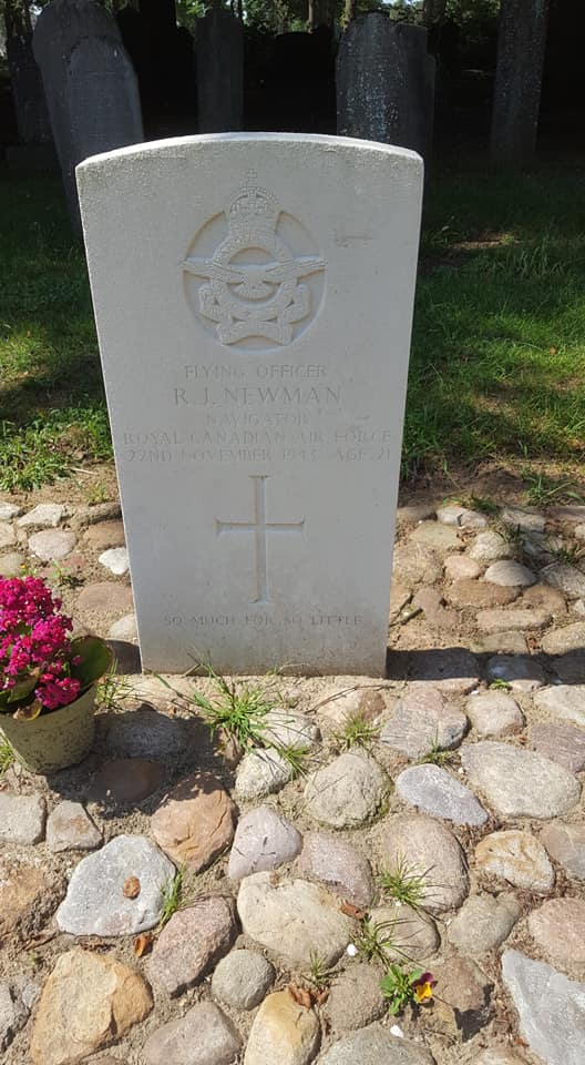 Grave marker– Grave marker of Richard John Newman at Diever general cemetery, The Netherlands.