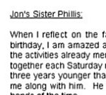 Phillis' tribute to her brother