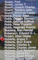 Memorial– Flight Sergeant Angus Frederick Roberts is also commemorated on the Bomber Command Memorial Wall in Nanton, AB … photo courtesy of Marg Liessens
