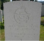 Gravemarker– His grave at Cherbourg Old Cemetery, Manche, France