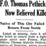 Newspaper Clipping– Source:  Hamilton Spectator, November 27, 1943