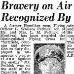 Newspaper Clipping– Source:  Hamilton Spectator, December 9, 1944