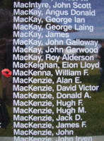 Memorial– Sergeant William Frank MacKenna is also commemorated on the Bomber Command Memorial Wall in Nanton, AB … photo courtesy of Marg Liessens