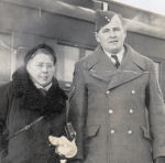 Group Photo– Arnold Gibson is seen posing with his mother.