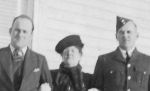 Group Photo– Arnold Gibson is seen posing with his mother and brother.
