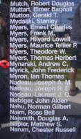 Memorial– Pilot Officer Andrew Charles Mynarski is also commemorated on the Bomber Command Memorial Wall in Nanton, AB … photo courtesy of Marg Liessens