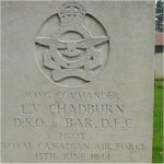 Gravemarker– Grave Marker of Wing Commander Lloyd Vernon Chadburn, R.C.A.F., located in Ranville War Cemetery, Normandy, France. Photo extracted from the 3rd Para Brigade WW II Re-Enactors website
