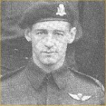 """Photo of Wendell James Clark– This photo of RSM Clark was obtained from """"Out of the Clouds"""", the history of 1st Canadian Parachute Battalion in WW II."""