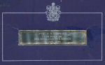"""Memorial Plaque– A silver plaque that my great-grandmother received from the Canadian Covernment.  The plaque reads  """"PTE. G.A.COMEAU I CDN. PARA. DN. DIED IN HIS COUNTRY'S SERVICE 10 JUNE 1944"""""""