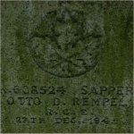 Photo 2 of Grave Marker– Gravemarker of Private Otto D. Rempel of the Royal Canadian Engineers. He died on December 27, 1945 and he is buried at the South Poplar Cemetery in Abbotsford,  British Columbia.
