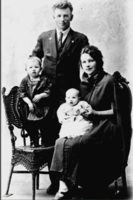 Photo of GESTUR ERNEST HJALMARSON– Gestur, Winnifred, Ruth and Fred. Submitted for the project, Operation Picture Me