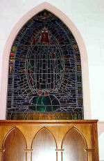 Stained Glass Window– This stained glass memorial at St. Paul's Anglican Church, 1302-99th Street, North Battleford, SK is dedicated to those members of the No. 35 Service Flying Training School killed on active service and was erected by their comrades in the Royal Air Force in 1944.