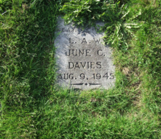 Grave marker– Photo by Susan R. Submitted for the project, Operation Picture Me