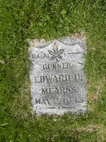 Grave Marker– Grave of Gunner Edward D. Mearns  Died May 2nd 1945.