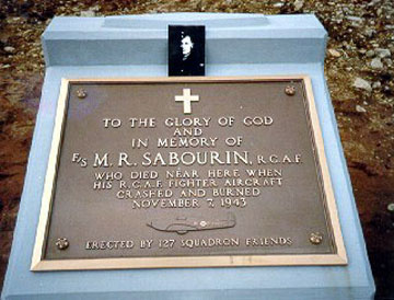 Memorial– M. R. Sabourin, North West Cove N.S