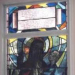 Memorial Stained Glass– This memorial in the Protestant Chapel at the Canadian Forces Base Borden is dedicated to the members of the Royal Canadian Electrical and Mechanical Engineers (RCEME) who gave their lives in the service of their country. It was erected by the 4 Field Workshop RCEME. The window was originally mounted in the chapel in Soest Germany but was moved to Borden in 1993.