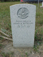 Grave marker– Grave marker of Pilot Officer Brian Allan McCallum