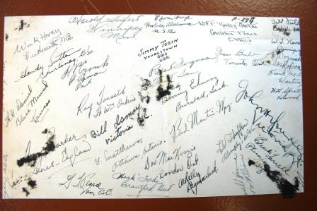 Signature– Signature of Bennie....from a photo of his class #2 EFTS Fort William, May 22, 1941