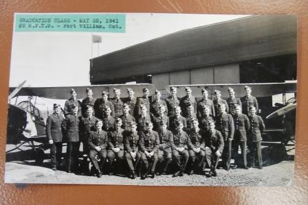 Group Photo– Photo of his class #2 EFTS Fort William, May 22, 1941