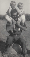 Family Photo– Jim holding Henry and Phillis Perrin. Submitted for the project, Operation Picture Me