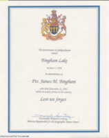 Certificate– Submitted for the project, Operation Picture Me.