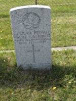 Grave Marker– Grave marker of Walter C Almquist in Saltcoats Cemetery.  Photo compliments of the Saskatchewan Cemeteries Project.