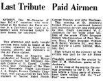 Obituary– Last Tribute printed in Halifax Mail Newspaper, December 29, 1942.