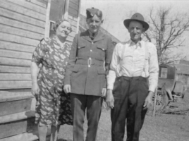 Photo of JAMES ARTHUR MCKAY– James and his parents John and Bessie. Submitted for the project, Operation Picture Me