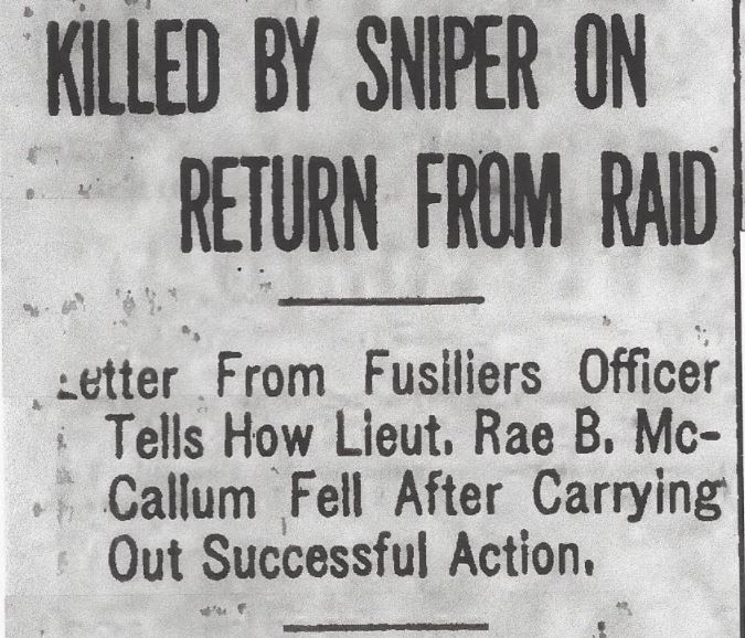 Newspaper clipping– From the Daily Colonist of September 29, 1917. Image taken from web address of http://archive.org/stream/dailycolonist59y252uvic#page/n0/mode/1up