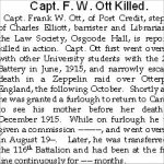 Newspaper Clipping– This article has been transcribed as the original is now in poor condition.  Illegible entries are marked.