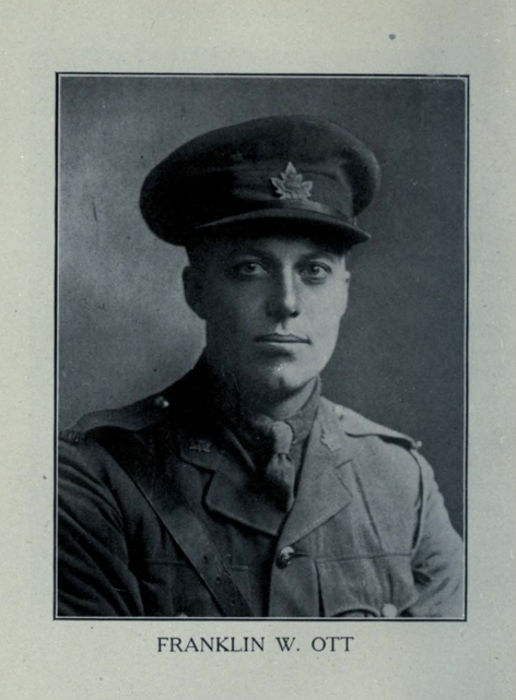 Photo of FRANKLIN WALTER OTT– In memory of the students from Parkdale Collegiate Institute (Toronto, Ontario), who went to war and did not come home. Submitted for the project, Operation: Picture Me