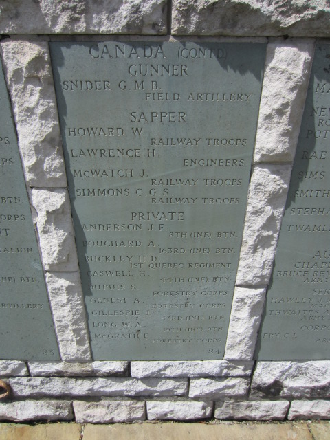 Inscription– Inscription on the memorial at Hollybrook Cemetery, Southampton UK showing Albert Genest's name.