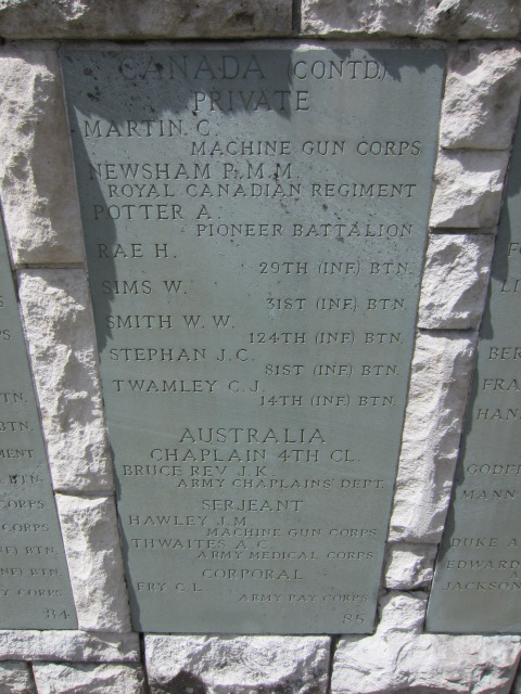 Inscription– Inscription on the memorial at Hollybrook Cemetery, Southampton UK showing Paul Newsham's name.
