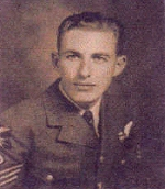 Photo of Jack Edwin McIntyre– Jack was the wireless operator on an aircraft that was shot down in Belgium on May 13th, 1944.  The aircraft crashed into a bog, killing the entire crew.  Jack, and four other crew members were recovered from the wreck and were buried in East Flanders, Belgium.  He was attached to #426 Squadron.  In 1997 the remains of the other three crew members were removed from the crash site and buried with their five comrades.  His sister flew to Belgium for this Memorial Service.  Jack's ring and watch were recovered and presented to Calla in 1997.  In 1948, the RCAF members of the crew, posthumously received The Belgium Croix de Guerre with Palm.