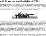 Le 426e Escadron et le Halifax LW 682