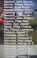 Memorial– Pilot Officer Peter Paul Repsys is commemorated on the Bomber Command Memorial Wall in Nanton, AB … photo courtesy of Marg Liessens