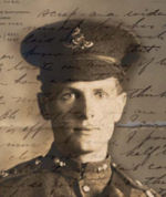 Photo of Murray Benner– Murray's letters and family letters are shared at www.canadaworldwarone.ca