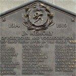 Commemorative Plaque– Detail of the Port Dover WWI Memorial Plaque.