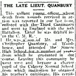 Newspaper Clipping– From the Simcoe Reformer for 24 August 1916.