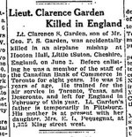 Newspaper Clipping (2)– From the Globe & Mail for 11 June 1918.