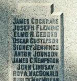 Inscription – Phoenix, Colombie-Britannique.