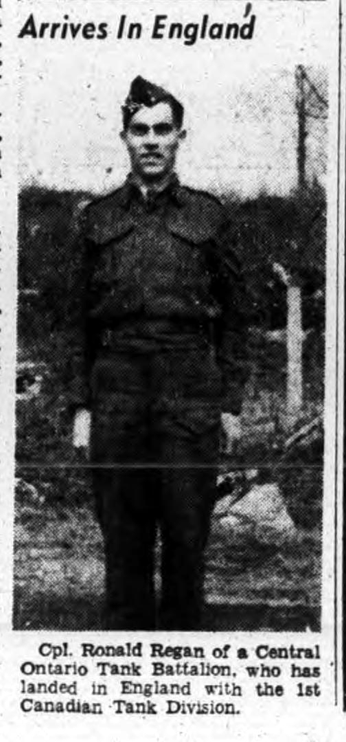 Newspaper clipping– ronald regan july 1941