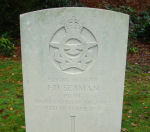 Grave Marker– Grave marker of Frank Seaman in Brookwood Cemetery Taken on Remembrance Day 2010