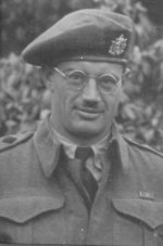 Photo of Robert I. O. Stewart– Captain Stewart enlisted in 1942 and served the entire time with The Queen's Own Rifles. He acted in the capacity as Quartermaster for the battalion from 1943 through Normandy, the Channel Ports, the Scheldt and the Rhineland. He was wounded by a stray round in the Reichswald Forest in late March 45 and evacuated to England where he died several months later.