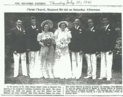 Newspaper clipping– Robert's wedding photo. Submitted for the project, Operation Picture Me