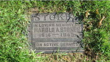 Grave marker– Photo by Robert Bell. Submitted for the project, Operation Picture Me