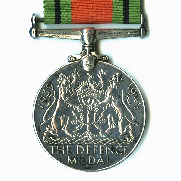 Medal– Defence Medal (awarded posthumously).