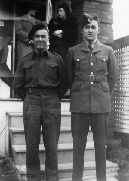 Group Photo– Sergeant Richard John Taylor on the right, with his brother Private Herbert Joseph Taylor (who also died in WW2, on September 5th. 1944, in Italy, age 27).